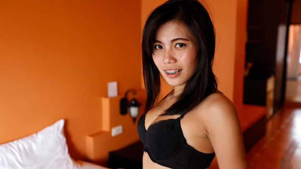Asian tits black dress fuck